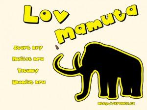 Hlavni menu hry Lov mamuta