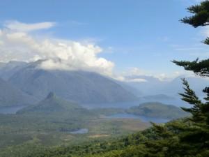 Výhled na jezero Manapouri