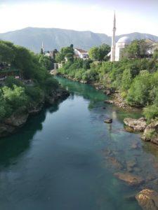 výhled z mostu v mostaru